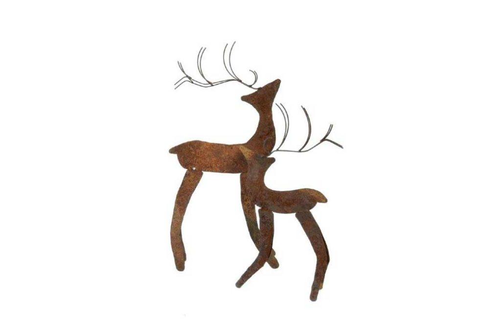rusted iron reindeer