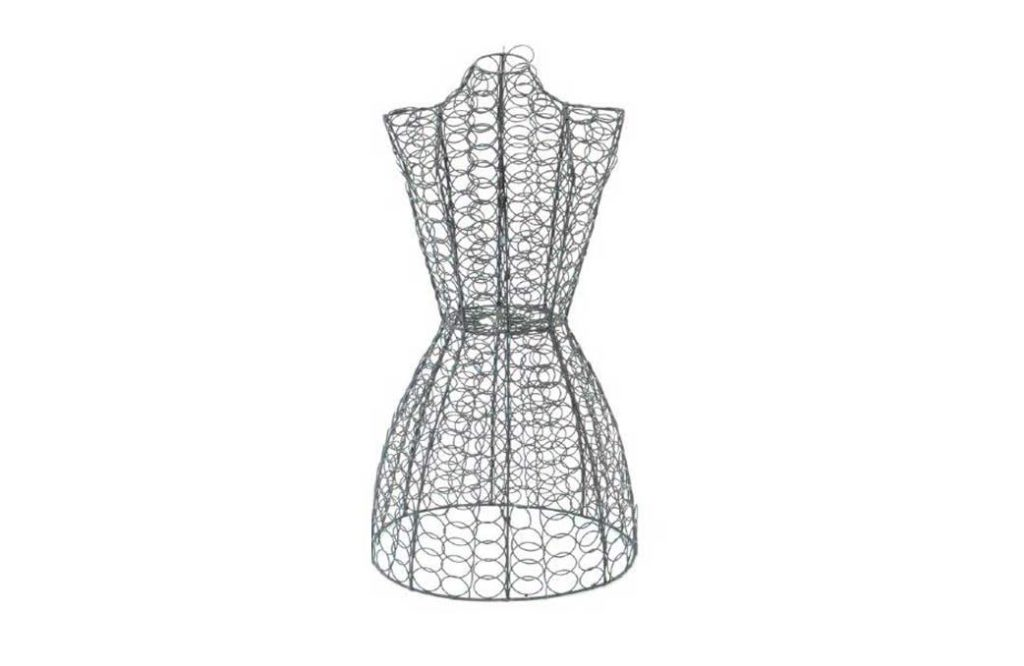 French wire mannequin bust