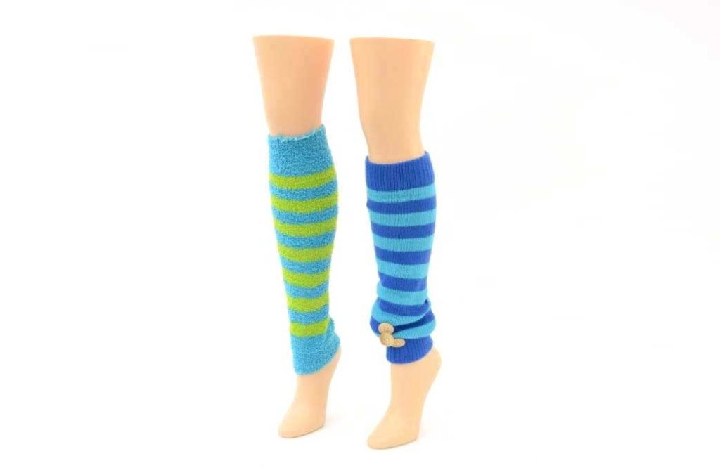 mannequin legs with leg warmers