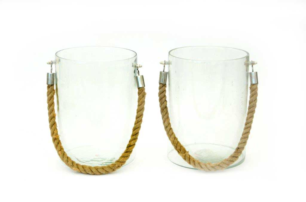 hurricane glass with rope