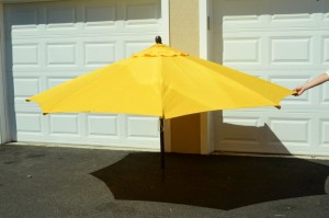 patio umbrella yellow