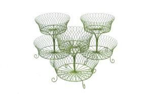 green wire baskets