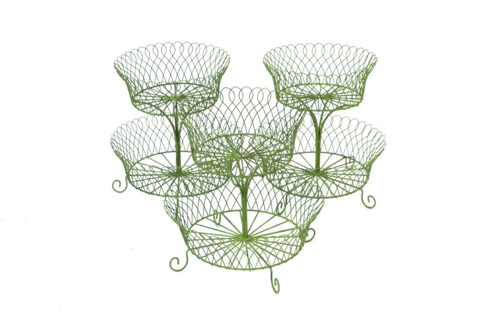 green wire baskets
